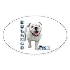 Bulldog Dad4 Oval Decal