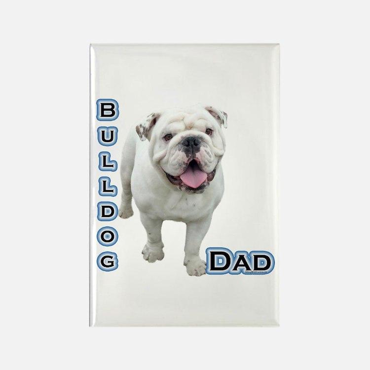 Bulldog Dad4 Rectangle Magnet (100 pack)