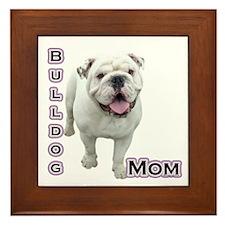 Bulldog Mom4 Framed Tile