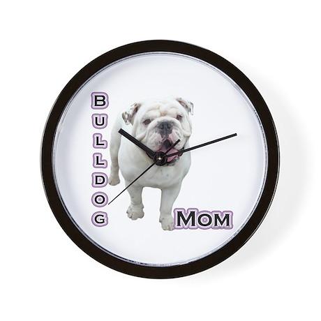 Bulldog Mom4 Wall Clock