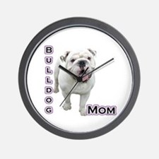 Bulldog Mom4 Wall Clock