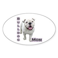 Bulldog Mom4 Oval Decal