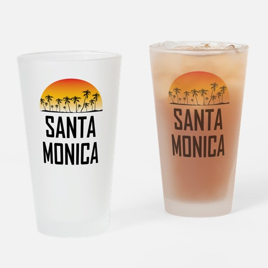 Santa Monica Sunset Drinking Glass