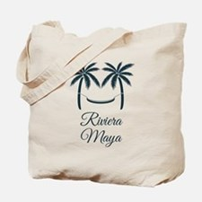 Palm Trees Riviera Maya T-Shirt Tote Bag