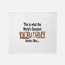 Worm Farmer Pride Throw Blanket