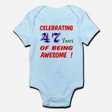 Celebrating 47 years of being awes Infant Bodysuit