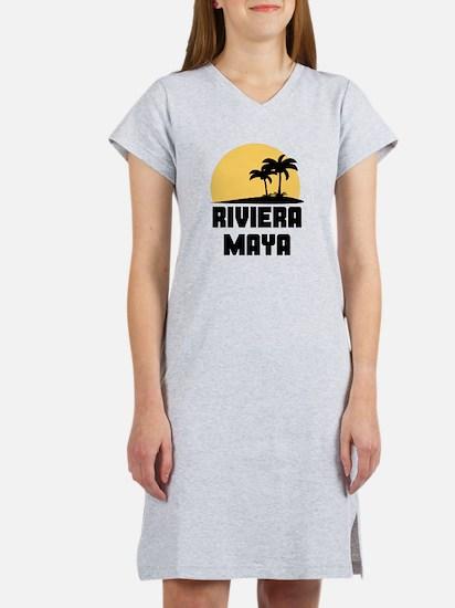 Palm Trees Riviera Maya T-Shirt Women's Nightshirt