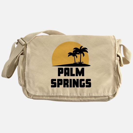 Palm Trees Palm Springs T-Shirt Messenger Bag