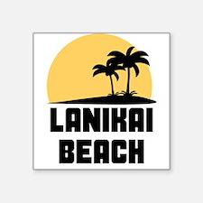 Palm Trees Lanikai Beach T-Shirt Sticker