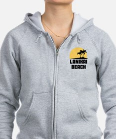 Palm Trees Lanikai Beach T-Shirt Zip Hoodie