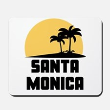 Palm Trees Santa Monica T-Shirt Mousepad