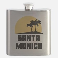 Palm Trees Santa Monica T-Shirt Flask