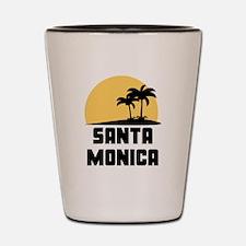Palm Trees Santa Monica T-Shirt Shot Glass