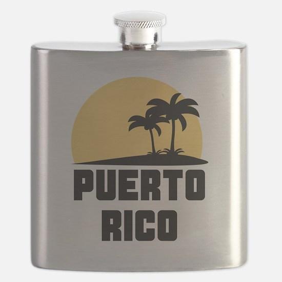 Palm Trees Puerto Rico T-Shirt Flask