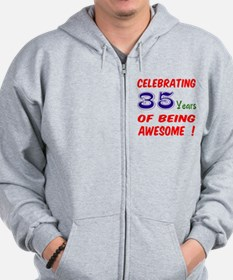 Celebrating 35 years of being awesome ! Zip Hoodie