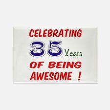 Celebrating 35 years of being awe Rectangle Magnet