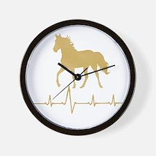 Mtn Horse Skip A Beat Wall Clock