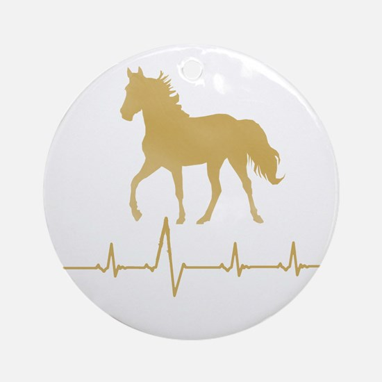 Mtn Horse Skip A Beat Ornament (Round)