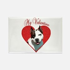 Staffy Valentine Rectangle Magnet (10 pack)