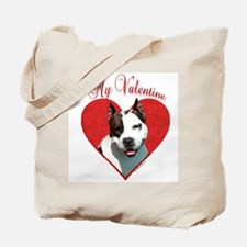Staffy Valentine Tote Bag