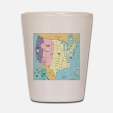 Time Zones United States Shot Glass