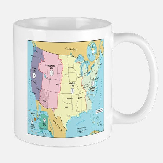Time Zones United States Mugs