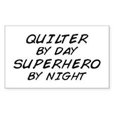 Quilter Superhero Rectangle Decal