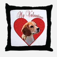Beagle Valentine Throw Pillow