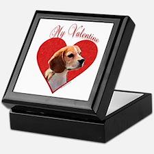 Beagle Valentine Keepsake Box