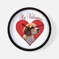 Beagle Valentine Wall Clock