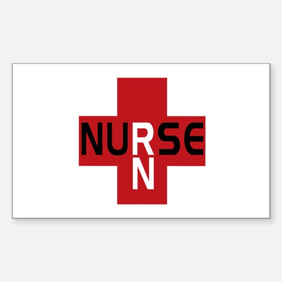 Nurse - RN Rectangle Decal