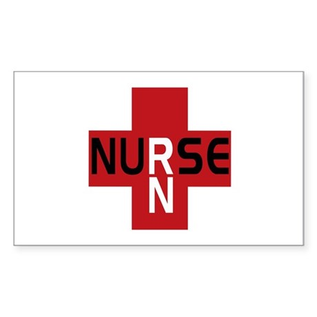 Nurse - RN Rectangle Sticker