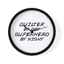 Quilter Superhero Wall Clock