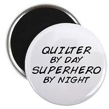 Quilter Superhero Magnet