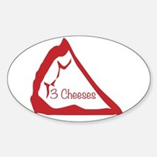 Pizza Slice 3 Cheeses Decal