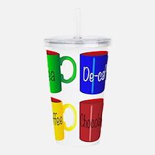 Large Named Mug Set Acrylic Double-wall Tumbler