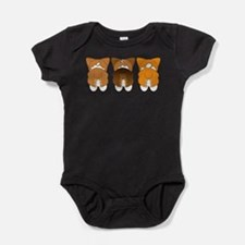 Cute Corgi butts Baby Bodysuit