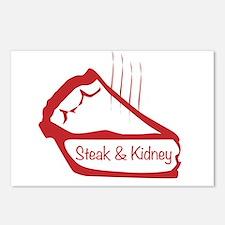 Warm Steak And Kidney Pie Postcards (Package of 8)