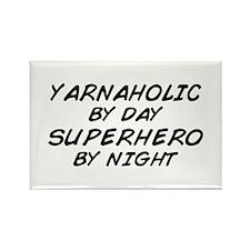 Yarnaholic Superhero Rectangle Magnet