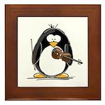 Violin Penguin Framed Tile