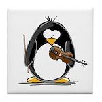 Violin Penguin Tile Coaster