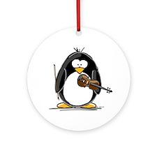 Violin Penguin Ornament (Round)