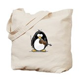 Penguin violin Canvas Bags