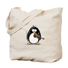 Violin Penguin Tote Bag