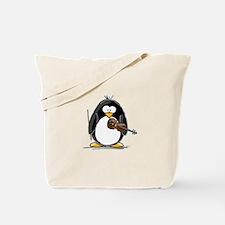 Violin Penguin Tote Bag