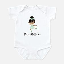 African American Future Ballerina Infant Bodysuit