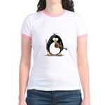 Violin Penguin Jr. Ringer T-Shirt