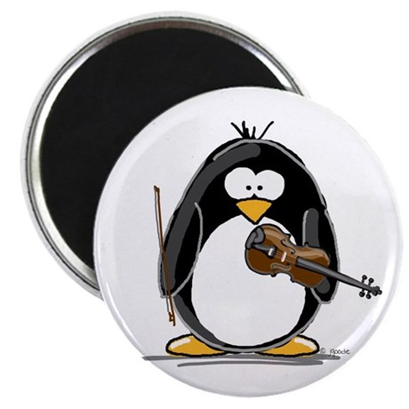 """Violin Penguin 2.25"""" Magnet (10 pack)"""