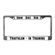 Triathlon - In Training License Plate Frame