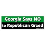 Georgia GOP Greed Bumper Sticker